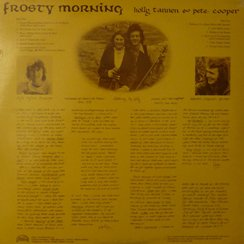 Back of Frosty Morning LP Sleeve