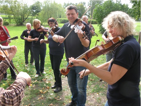 Radek Spindler and members of Fiddle Farm